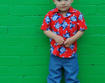 Slim Jim Pants boys pdf sewing pattern, boys trouser & shorts pattern sizes 2 to 12 years, Childrens pdf sewing patterns.