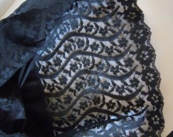 Vassarette Black Nylon Slip 32 L