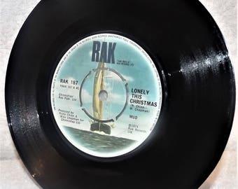 Mud-Lonely This Christmas-1974-Vinyl Single-Ex