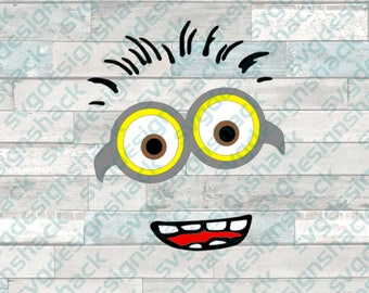 Minion Inspired FaceSVG, DXF, EPS, Studio 3, Png