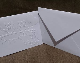 Happy birthday embossed cards (set of 10 cards)