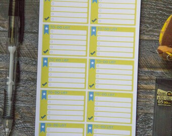 To-Do List Stickers for Weekly Scheduler / Matte & Writeable