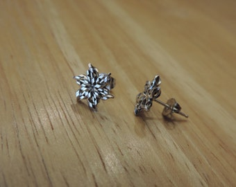 Small Snowflake Stud Earrings