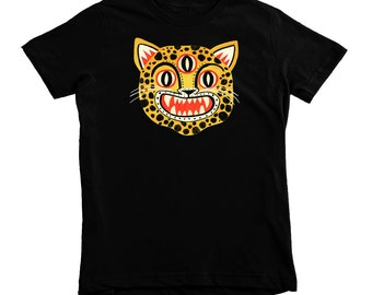 3 Eyed Leopard T-shirt by Colin Walsh