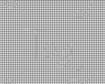 Dark Grey Gingham Cardstock Paper
