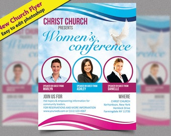 Christian Flyer | Church event flyer, church marketing, art of worship, Christian | Easy to edit | INSTANT DOWNLOAD