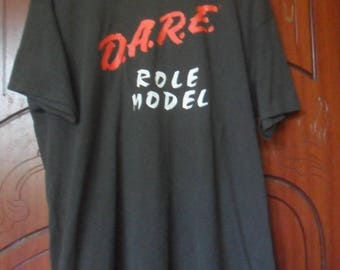 Vintage 90s Dare Role Model T Shirt//Made in Usa//Size XL