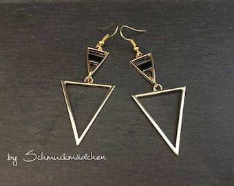 Earrings gold triangles