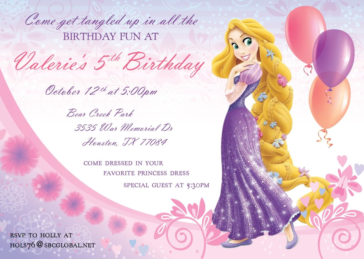 Perfect Tangled Party Invites Adornment Invitation Card