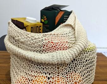 Cotton Crochet Shopping Bag, Eco-Friendly