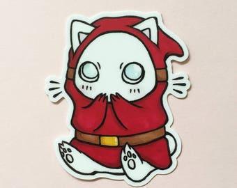 SHY GUY KITTY — vinyl sticker