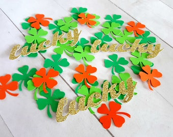 Irish Party Decorations, St. Patrick's Day Party Decor, St. Patrick's Day Confetti, Irish Confetti, Shamrock Confetti, St. Patty's Day Party