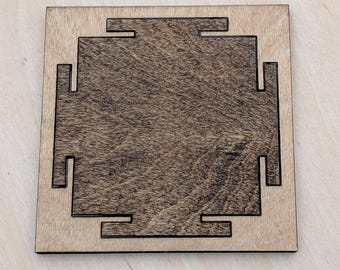 Bhupur Gate Coasters - Laser Cut Stained Birch Wooden coasters