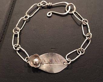 Sterling Silver Bracelet, Artisan Jewelry, Jewelry Art, Handmade, Metalsmith, Art Jewelry