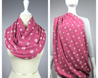 Nursing cover  scarf, nursing cover, infinity scarf,  breastfeeding cover, nursing infinity scarf, Pink scarf