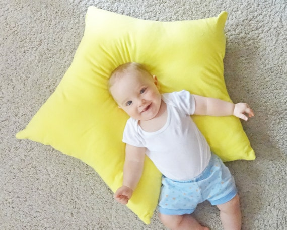 Star floor pillow yellow star pillow kids floor pillow kids
