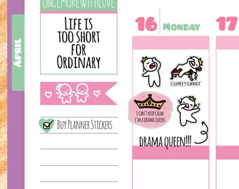 Munchkins - Drama Queen I Simply Cannot Planner Stickers (M166)