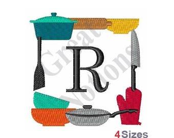 Monogram R - Machine Embroidery Design