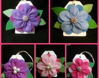 Handmade Felt Flower Pin Brooch