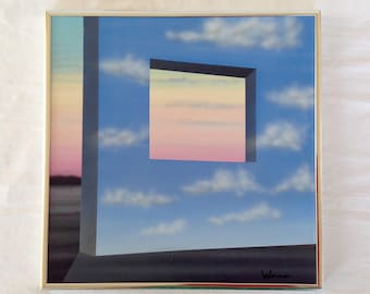 Surrealist Illusionistic Landscape Airbrush Painting by David Werner