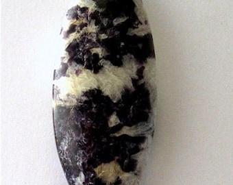 Lepidolite in Quartz Cabochon