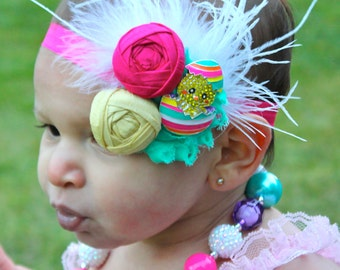 Easter Headband - Easter Baby Headband - Over The Top Easter Headband