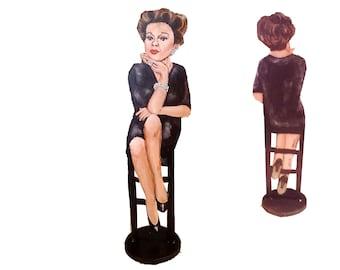 Judy Garland Hand Painted 2D ArtFigurine
