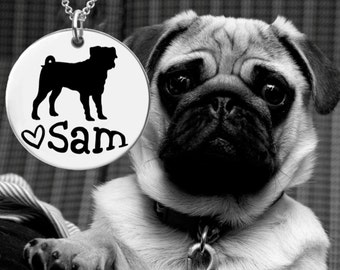 Pug Necklace   Pug Jewelry   Personalized Gifts   Korena Loves