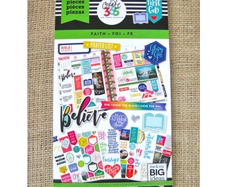 Faith Create 365 Happy Planner Sticker Value Pack (621 stickers/Pkg) Me & My Big Ideas (PPSV-17)