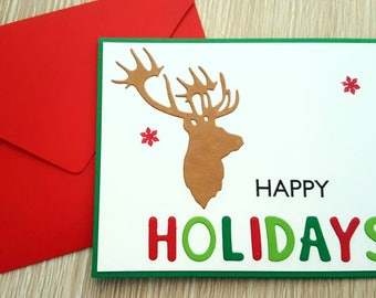 Happy holiday cards / happy holiday card set / happy holidays card / christmas cards set / christmas cards boxed set