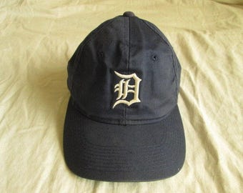Vintage Detroit Tigers Baseball Blue Cap Hat Genuine Sports Specialties One Size Used Condition