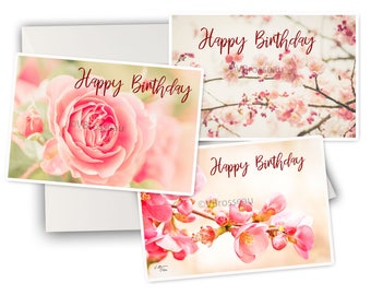 cards birthday flowers - fine art photo cards birthday - English or french - or other