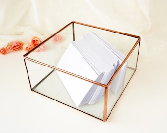 Wedding Card Box, Envelope Holder, Glass Box, Wedding Gift, Gift For Her, Gift For Girlfriend, Jewelry Box