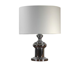 Table lamp in chrome metal - cushion table lamp