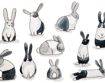 Woodland Nursery Wallpaper   Bunny Rabbit Wallpaper   Removable Wallpaper for Kids Home Decor   Rabbit Wallpaper   Animal Nursery Decor
