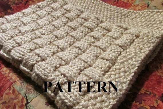 Knitting Pattern Blanket Knitting Pattern Basket Weave