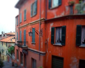Italy Photography, Fine Art Photograph, Red Tuscan Villa, Italian Wall Art, Tuscany, Travel Decor, Italian Art, Tuscan Decor