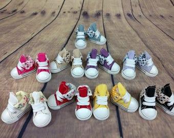 Shoes for BJD Yosd 1/6, minifee moe feet or similar size doll - dark purple