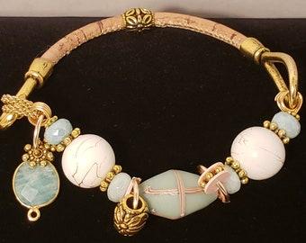 French Cross Bracelet (Teal)