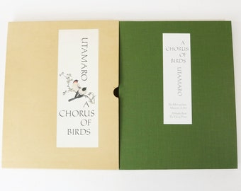 Kitagawa Utamaro A Chorus of Birds Book w/ Slipcase 1981 Woodblock