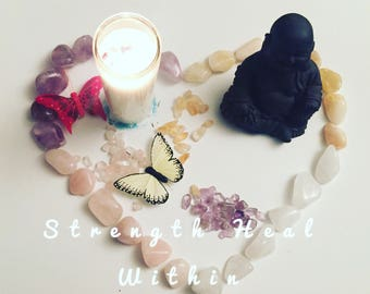crystal manifesting candle