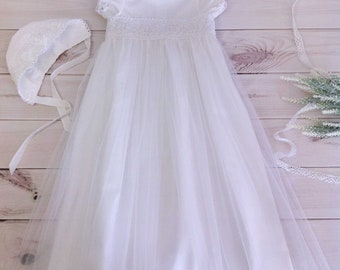 Baptism Dress, Christening Dress, Baptism Lace Dress, Baptism Gown, Christening Gown, Communion Dress, Blessing Dress, Girls Lace Dress