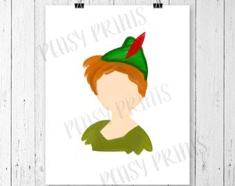 Fairy tale art, peter pan nursery, neverland, neverland nursery, nursery decor, nursery wall art, princess decor