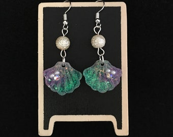 Mermaid Resin Earrings