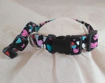 Heart Dog or Cat Collar, Pet Collar, Adjustable Collar, Personalized Collar, Small Dog Collar, collar de perro,