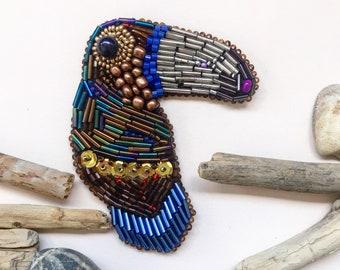 Handmade brooch bird brooch embroidered brooch designer brooch seed bead brooch brooch embroidery handmade jewelry designer brooches