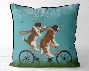 St Bernard pillow Cabin decor st bernard gift for owner cabin pillows cabin cushions home decor pillow unique throw pillow dog accent pillow