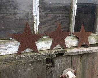 Metal Stars, set of 3