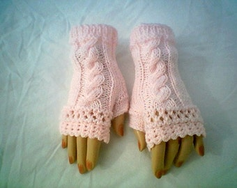 0069 Cable Fingerless Glove Pattern Knitting Crochet by CarussDesignZ