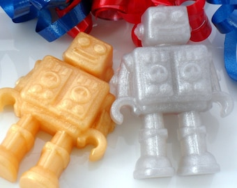 10 ROBOT SOAP FAVORS - Robot Party Favor, Robot Birthday Party Favor - Robot Baby Shower Favor, Out of this World, Outer Space